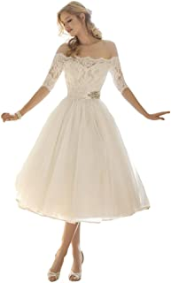 d74f069960a Lava-ring Women s A-line Wedding Dress 2018 Off-The-Shoulder Lace
