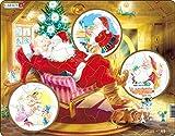 Larsen JUL2 Santa Claus Relajándose en Su Silla, Puzzle de Marco con 33 Piezas