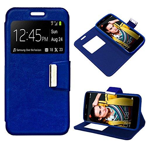 iGlobalmarket Funda Flip Cover Tipo Libro con Tapa para Huawei P10 Lite Liso Azul