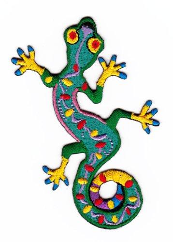 Aufnäher Bügelbild Aufbügler Iron on Patches Applikation Geko Salamander