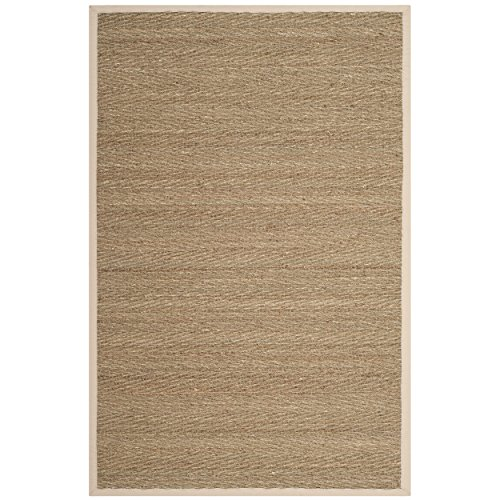 Safavieh Natural Fiber Collection NF115J Herringbone Natural and Ivory Seagrass Area Rug (2' x 3')