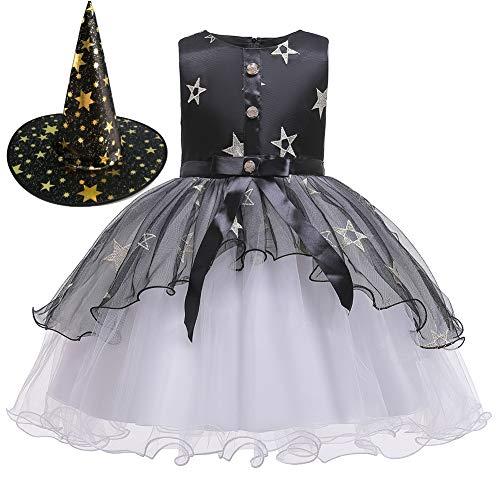 Kids Meisje Prinses Jurk Set Voor Halloween Feest, Cosplay Meisje Prinses Rok Heks Rok Heks Show Kostuums Party Jurk Carnaval Kostuum Voor Carnaval