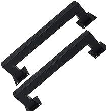 JF-Handrails 2 verpakkingen industriële stijl ijzer zwart gelakt deurgrepen push-pull huis vierkante buis, lengte 30/60 cm...