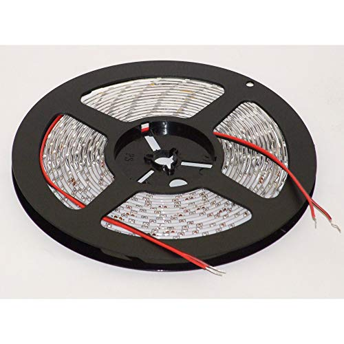 24VDC SMD5050 60LEDs/m 14.4W/m blanc chaud 2700K bande de LED flexible (strip), 10mm PCB, IP20, 5m a reel (72W, 300LEDs)