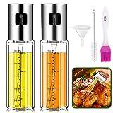Gvoo Spruzzatore Olio, 2pack Spray Olio Cucina di Olio Ricaricabile Bottiglia di Vetro con...