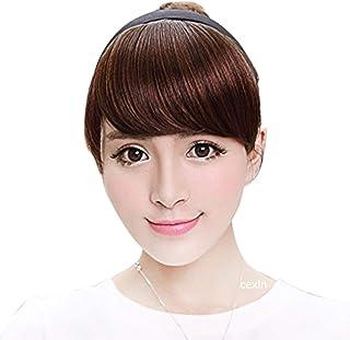CEXIN(セシン) 前髪ウィッグ 前髪付き カチューシャ エクステ ウィッグ ポイントウィッグ カット 耐熱 厚い 「フルバング前髪」 3タイプ