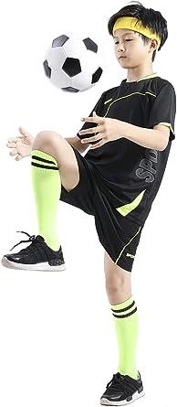 Coralup Niños Adultos Pantalones Cortos Deportivos Conjuntos Fútbol y Baloncesto Uniforme Jerseys Chándal Trajes de Entrenamiento Verano Playa Manga Corta Set 120-195cm