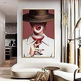 tzxdbh Mapa del Mundo Marino Vintage Papel Antiguo Arte Pintura Retrato HD Decoración del hogar Exposición de Pintura Famosa consistente 30x45cm Pas Sin Marco