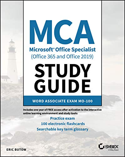 MCA Microsoft Office Specialist (Office 365 and Office 2019) Study Guide: Word Associate Exam MO-100 Front Cover
