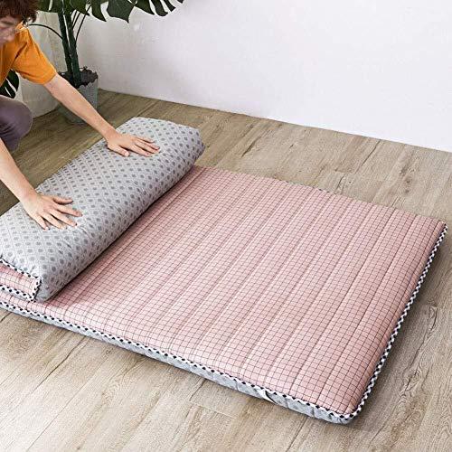 Huan Tatami Bodenmatte, Weich verdicken Matratzenauflage Faltbare Futon-Matratze-bewegliche Schlafenauflage japanische Futon-Matratze for Dorm (Farbe : J, Size : 90x200cm(35x79inch))
