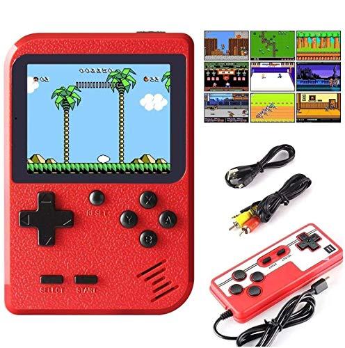 Efinger Console De Jeux Portable, Console De Jeu Retro FC avec 400 Jeux Classiques, pour 2 Joueurs Meuble TV Consoles de Jeu Portables, Jeux Cadeau pour...