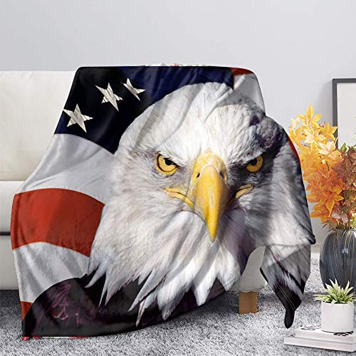 Best Buy! BIGCARJOB American Eagle Print Soft Blanket All Season Warm Microplush Lightweight Blanket...