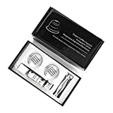 Adecuado para Nespresso Cápsula Recargable Filtro de café Reutilizable Gotero de Acero Nespresso Cafeteira Capsulas de Cafe Recargables Reutilizables Filtros de café (Color : 2 Capsule 1 Tamper)