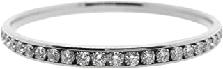 Bevilles Stainless Steel Crystal Channel Bangle