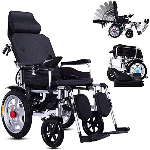 Furniture Decoration Heavy Duty Electric Wheelchair With Headrest foldable Folding and Lightweight Portable Powerchair With Seat Belt electric Power Or Manual Manipulation adjustable Backrest and P