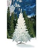 House of Fun Candia Albero di Natale con 350 Rami, Bianco, 150 cm