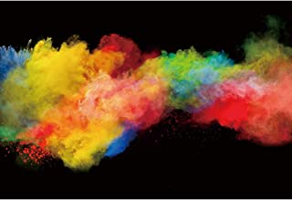 DORCEV 7x5ft Colorful Smoke Bomb Color Photography Backdrop Colorful Chalk Dust Colored Smoke Party Event Decor Background Baby Kids Adult Portraits Photo Video Shooting Studio Props