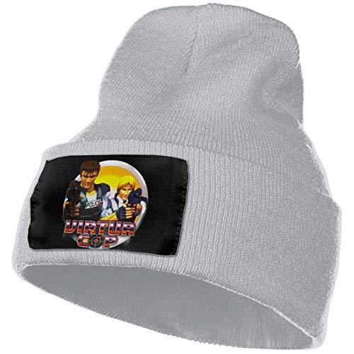 AOOEDM Knit Hat Cap Cappelli da donna Virtua Cop Skull Beanie Cappelli invernali Berretti lavorati a maglia Cappello da sci caldo e morbido Nero