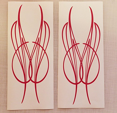 CHSGJY New Fashion Red Color Pinstripe Set 02 Decals Vinyl Stickers Motorcycle Car Truck Tank Fender Harley DIY Decoratio