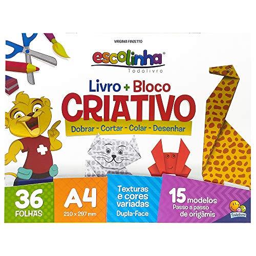 Livro + Bloco criativo (origami)