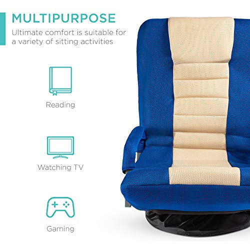 Best Choice Products Multipurpose 360-Degree Swivel Gaming Floor Chair for TV,...
