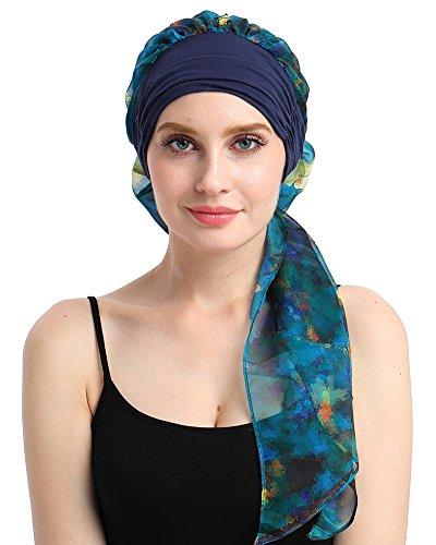 FocusCare Transpirable para los Pacientes de quimioterapia el cáncer pre Tie headcovers Turbante para la Alopecia Femenina