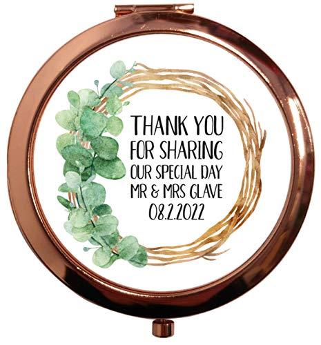 Flox Creative Miroir carré carré carré avec feuille de remerciement personnalisable
