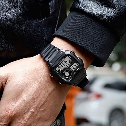 Men's Business Watch, Waterproof Multi-Function Sports Watch, Square Luminous Fashion Electronic Watch,A