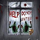 CODIRATO 2 Stück Halloween Aufkleber Help Sticker Blutige