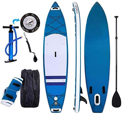 LXDDP Paddleboard Inflable Paddle Paddle Surfboard Stand-Up Paddle Board con Paleta Ajustable + Bolsa Transporte graninflable para jóvenes y Adultos