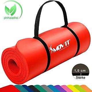 1,5cm ou 1,0cm en 12 Couleurs Rembourr/é Movit/® Tapis de Gymnastique Mat de Yoga sans phtalate Fitness Pilates//Sport//Gym SGS//Sol test/é en 2 Tailles 190cmx100cm ou 190x60cm ou 183cmx60cm /épaisseur