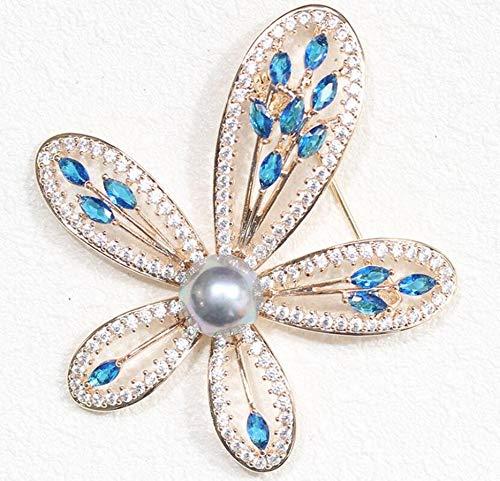 Sxuefang Brosche Vintage Parkett Multicolor fünfblättrigen Brosche Jacke Pin Brosche