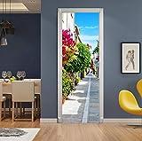 BVCK Nuevo 3D Decoración del Hogar Pegatinas Y Carteles DIY 3D Callejón Simulación Escena Real Etiqueta De La Puerta Impermeable PVC Cartel De La Pared Sala De Estar Extraíble Murales De Pared