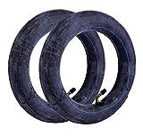 EhuaStore® - Lote de 2 cámaras de aire para patinete eléctrico de 10 x 2,5 pulgadas, 250 x 60 mm, válvula acodada, sólida y duradera