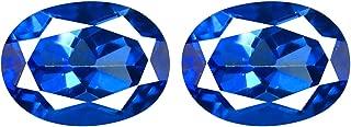 3.14 ct (2PCS) MATCHING PAIR OVAL SHAPE (8 X 6 MM) ENGLISH BLUE TOPAZ NATURAL GEMSTONE