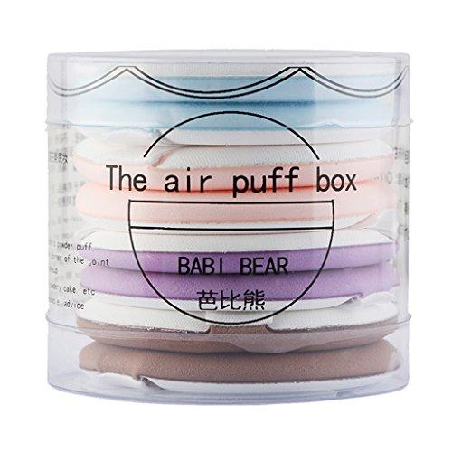 T TOOYFUL 8x Coussins D'air Fond De Teint Crème Anti-cernes Puff Puff Puff Comestics Ronds - Multi