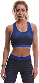 Gold's Gym Women's Ggltop047 Sleeveless Training Workout Gradient Ombre Sport Bra Mesh Lined Fitness Sports Crop Top