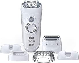 Braun Silk-épil 7 7-561 - Depiladora eléctrica inalámbrica en seco y húmedo, 6 accesorios, incluido un cabezal de afeitado y un peine de recorte, blanco