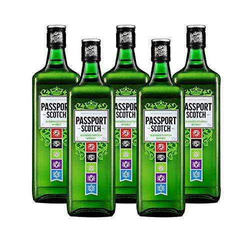 Whisky Passport Scotch de 70 cl - D.O. Escocia - Bodegas Osborne (Pack de 5...