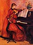Pierre Auguste Renoir - The Piano Lesson 30' x 22' Wall Art Giclee Canvas Print (Unframed)