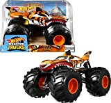 Hot Wheels Monster Trucks Tiger Shark Coche de juguete todoterreno, regalo para niños +3 años (Mattel GWL14)