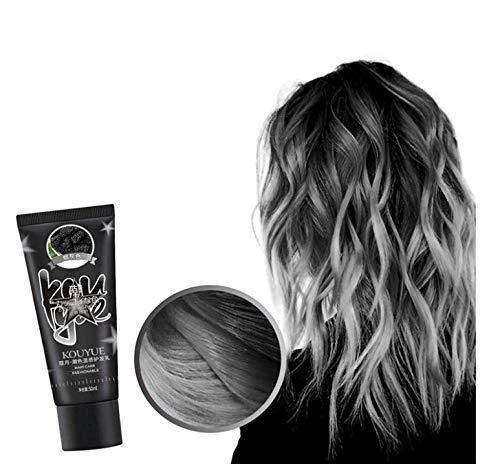 runxinqing Thermochromic Color Changing Wonder Hair Dye - DIY Semi Permanent Haarfarbe Wachs Temporäre Farbe Haareffekt Styling - für Party, Cosplay, Halloween, Maskerade, Nachtclub (Grau)