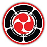 Zirni Mitsu Tomoe Japanese Triad Symbol Martial Arts Sticker Decal Design