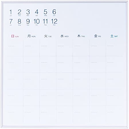 ナカバヤシ ホワイトボード プラスチックずっとカレンダーボード 33×33cm CLBP-3333