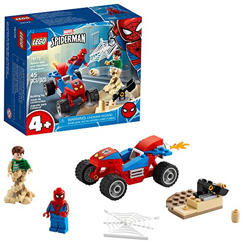 LEGO Marvel Spider-Man: Spider-Man and Sandman Showdown 76172 Collectible Construction Toy, New 2021 (45 Pieces)