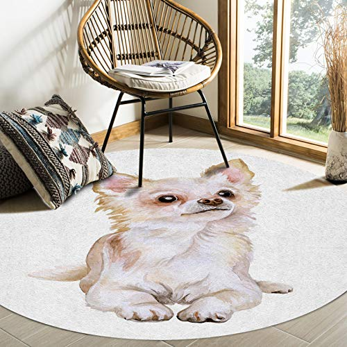 FunDecorArt Large Area Rugs Carpet 6 Feet for Bedroom Living Room, Watercolor Painting Non-Slip Accent Throw Runner Rug Low Pile Floor Mat Momory Foam Bath Mat