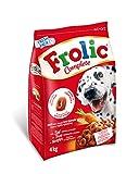 Frolic Pienso Semihúmedo para Perros Adultos Sabor Buey (Pack de 3 x 4kg)