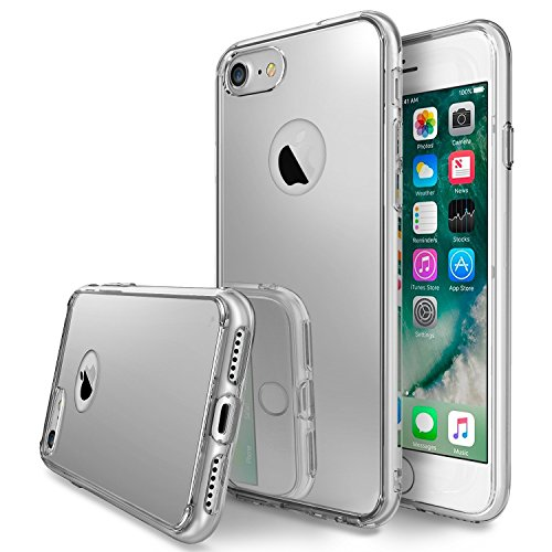 Ringke Cover iPhone 7 [Fusion Mirror] Riflesso Luminoso Radiant Specchio Bumper [Shock Absorption Tecnologia] Protezione Ultra-Elegante Custodia iPhone 7 - Silver
