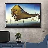 Puzzle 1000 piezas Pintura psicodélica retro Salvador Dali...