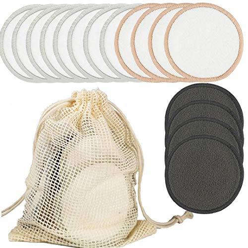 Almohadillas de algodón maquillaje de ratón de bambú Toallas Sanitarias removedor de maquillaje Esponja Toallitas de limpieza facial para el maquillaje herramientas de belleza